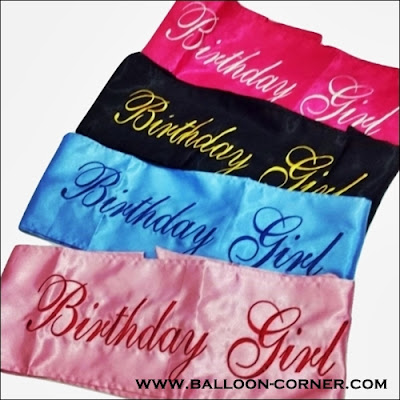 Selempang BRIDE TO BE / Sash BIRTHDAY GIRL (Murah)
