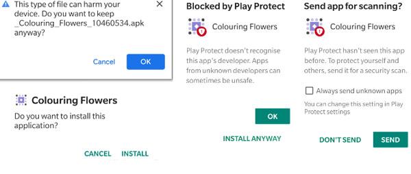 تثبيث تطبيق Appsgeyser