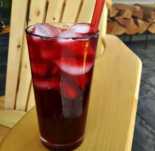 Raspberry Sweet Tea #drinks #icetea
