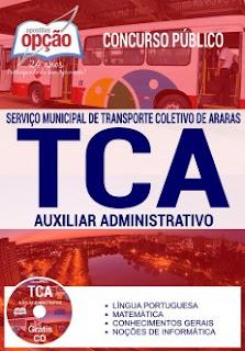 Apostila TCA Araras 2017 Auxiliar Administrativo