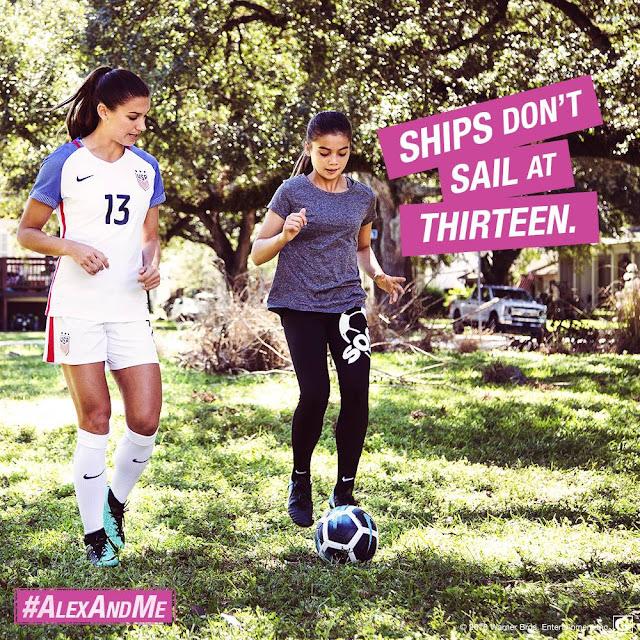 Ships don't sail at thirteen #AlexandMe #AlexMorgan