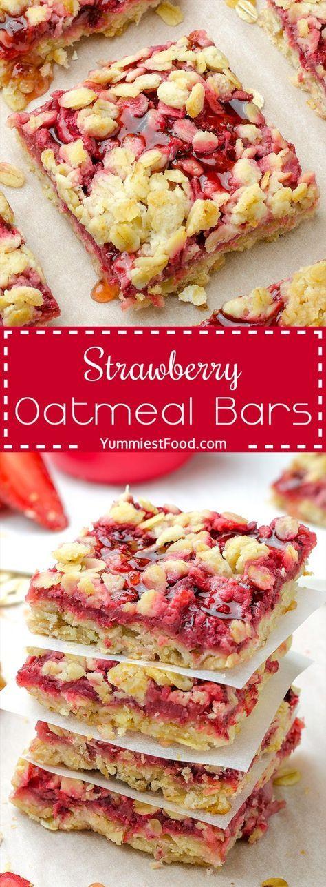 Healthy Breakfast Strawberry Oatmeal Bars