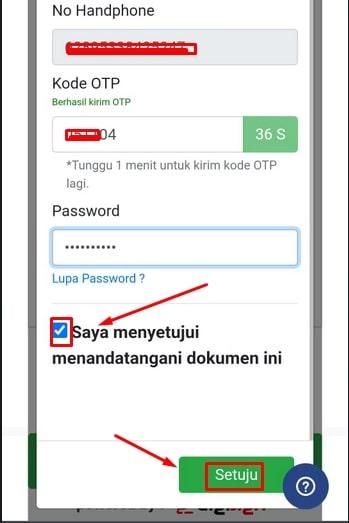 Verifikasi kode OTP