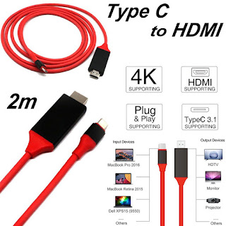 USB 3.1 Type C to HDMI TV HDTV Video Cable for Samsung Galaxy S8 Macbook