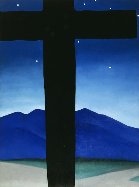 Georgia O'Keeffe : Black cross with Star and Blue Londres expositions 2017