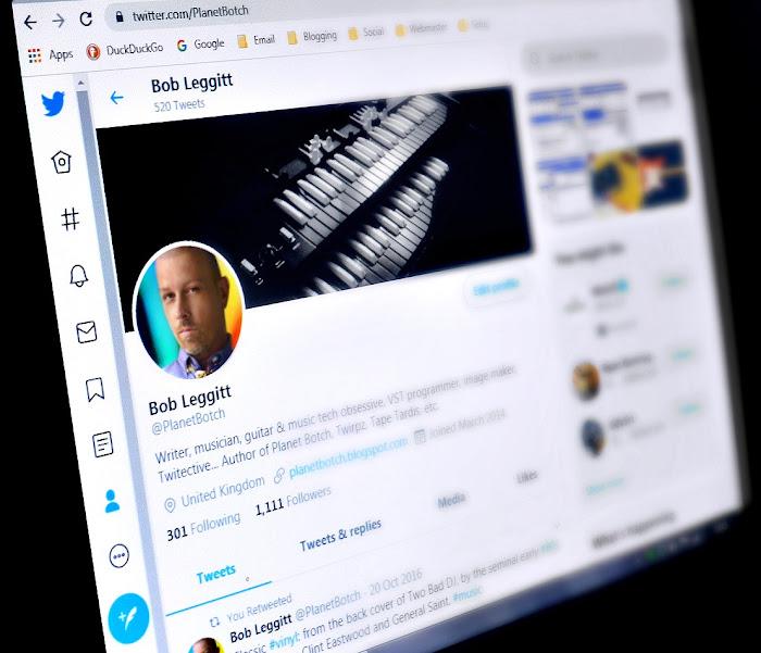 Bob Leggitt on Twitter