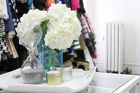 Will Bake for Shoes | Studio Apartment Coffee Table Tray and Flowers