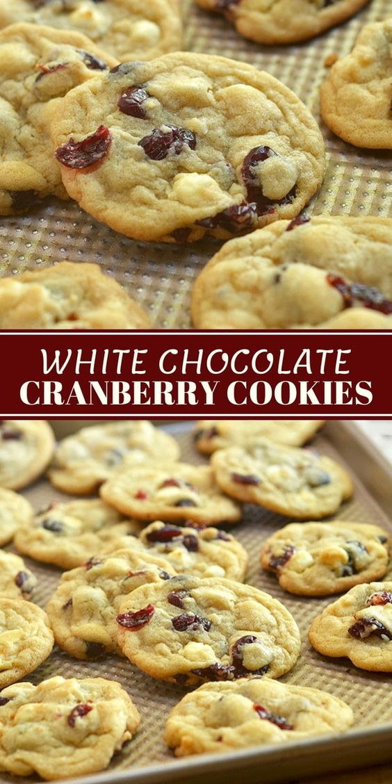 White Chocolate Cranberry Cookies