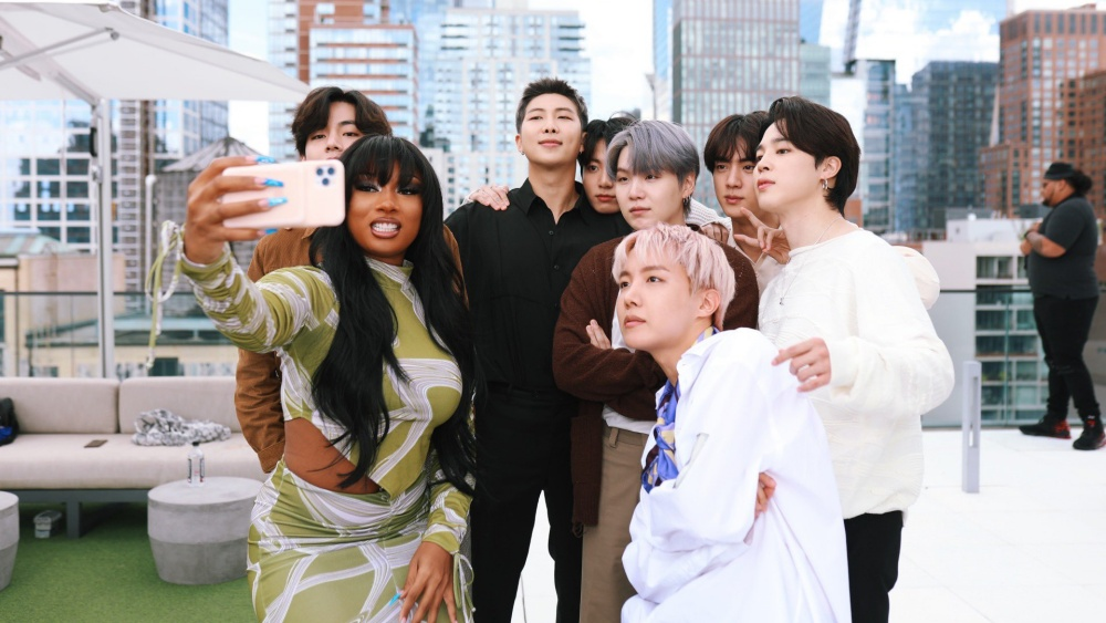 Megan Thee Stallion Uploads Photos with BTS Members