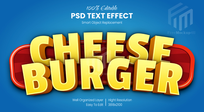 Editable Text Effect Comic Text Style Psd Template