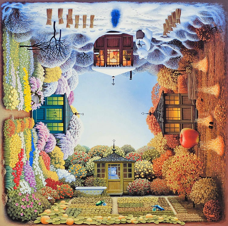 07-Four-seasons-Jacek-Yerka-Surreal-Paintings-Parallel-Universes-www-designstack-co