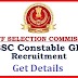 SSC GD Notification for 50000 Jobs 10th Qualifications - Get Details