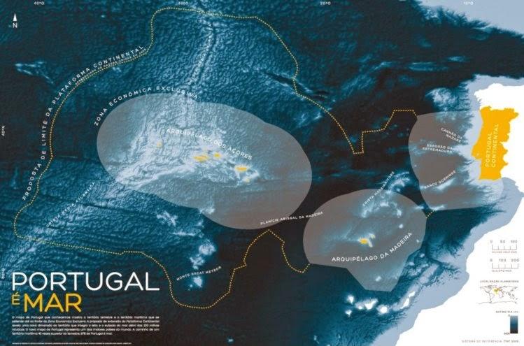 portugal é mar mapa Baía da Lusofonia: Portugal é mar portugal é mar mapa