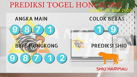 Prediksi Togel Hongkong Angka Jadi HK Kamis 25 Juni 2020