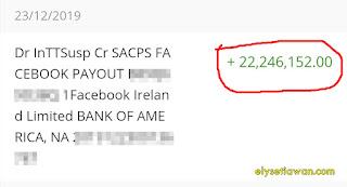 bukti transfer uang dari facebook ads breaks