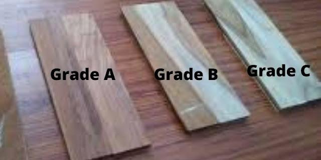 parket jati grade A, B, C