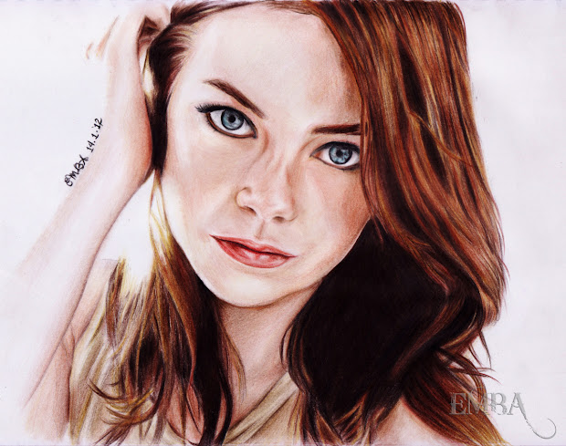 Realistic Colored Pencil Portraits Celebrity And Girls Sketches - Art Pics & Design With
