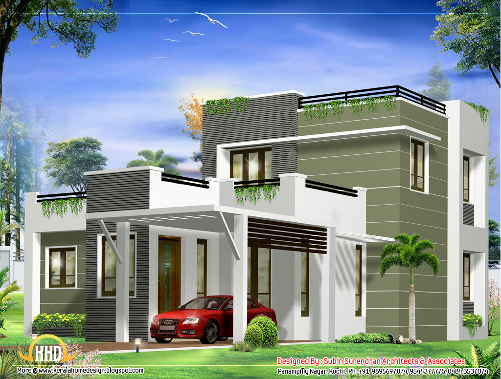 6 awesome dream homes plans kerala home design and floor for Small contemporary home designs