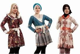 Model Baju Batik Unik Wanita Modern terbaru