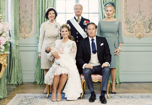 Princess Madeleine, Eva Maria Walter O'Neill, Queen Silvia, Anouska d'Abo, Charlotte Kreuger Cederlund, Coralie Charriol Paul, Nader Panahpour, Baron Gustav Thott and Natalie Werner