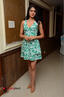 Actress Sakshi Chaudhary Pictures in Short Dress at Selfie Raja Movie Song Launch  0241