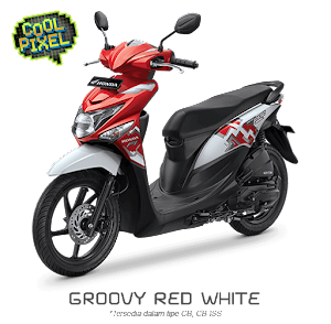 Warna Baru Beat POP ESP CBS ISS 2016 Groovy Red White