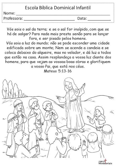 Atividades bíblicas para juniores