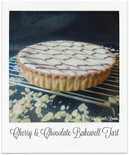 The classic flavour combination of chocolate and cherry was used in this British classic, Bakewell Tart. With its pastry base, layer of cherry jam, almond frangipane and chocolate feathering to the icing, you'll certainly have people coming back for seconds!