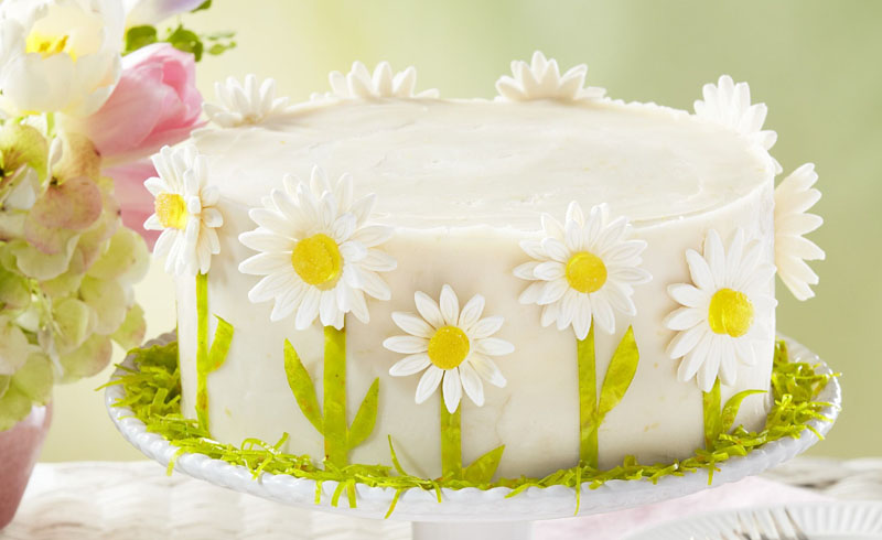Spring Daisy Lemon Layer Cake