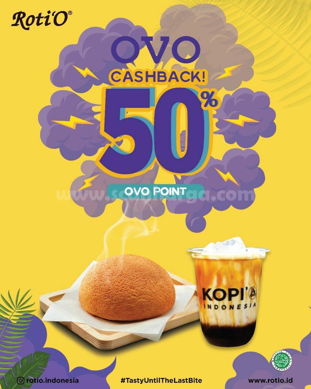 Promo Roti 'O Cashback Attack 50% pakai OVO