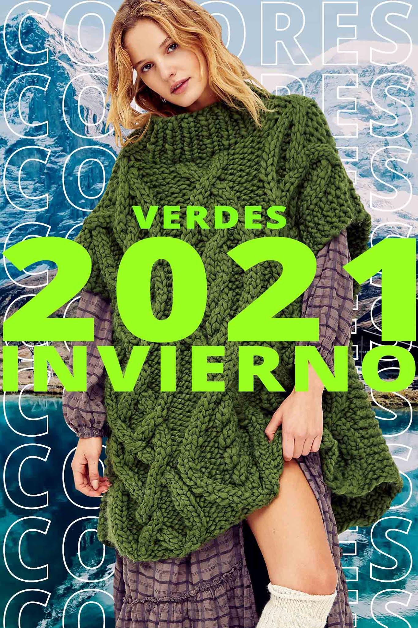 colores de moda otoño invierno 2021 verde verdes