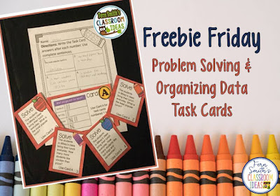 Problem Solving with Tables to Organize Data Task Cards and Answer Sheet Fern Smith #FernSmithsClassroomIdeas