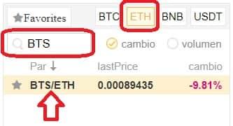 comprar bitshares por ethereum