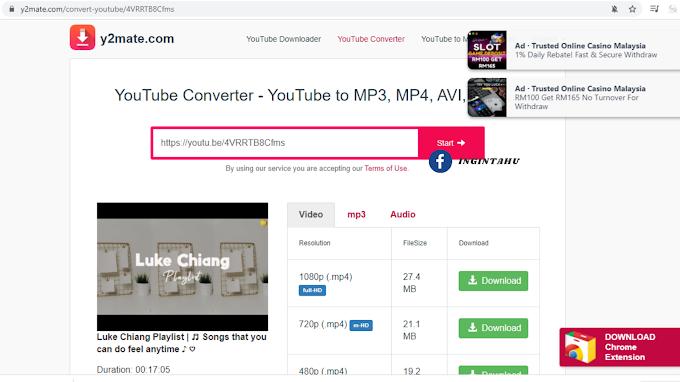 Cara Download Video, Mp3 dan Audio Youtube Secara Percuma