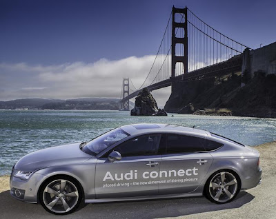 Audi A7 Traffic Jam Pilot prototype in California