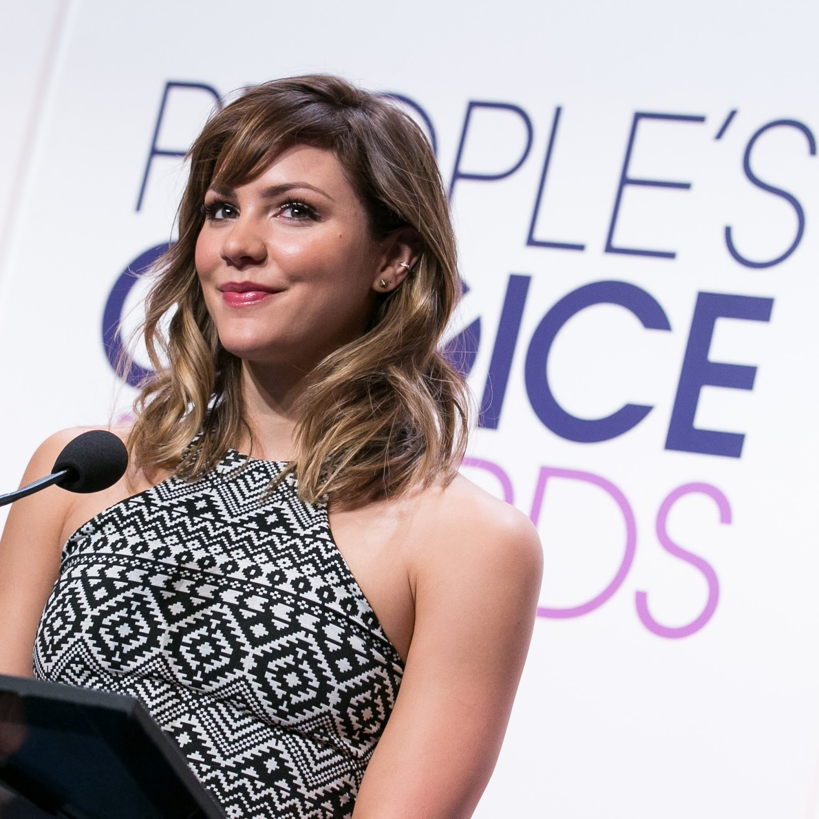 Shark Night 3D actress Katharine McPhee attends People's Choice Awards 2015 Nominations Press Conference