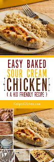Easy Baked Sour Cream Chicken found on KalynsKitchen.com.