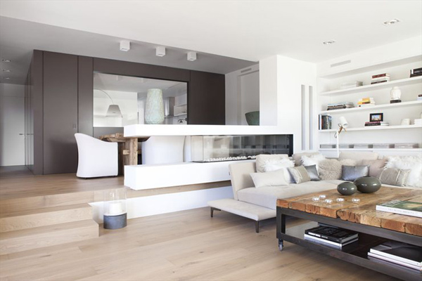 bella decoraci n de interiores contempor nea en barcelona bonitadecoraci. Black Bedroom Furniture Sets. Home Design Ideas