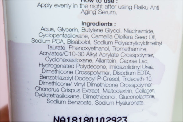 raiku-anti-aging-night-cream-ingredients