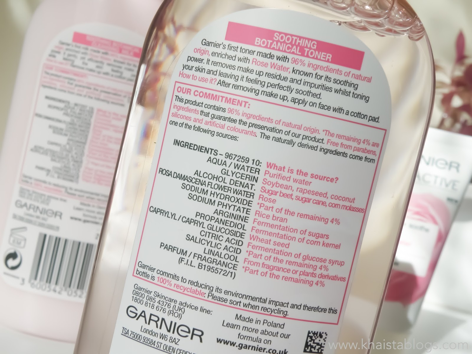 garnier skinactive rose water toner review