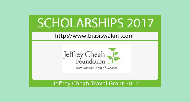 Jeffrey Cheah Travel Grants 2017