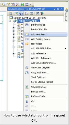ADROTATOR CONTROL IN ASP.NET