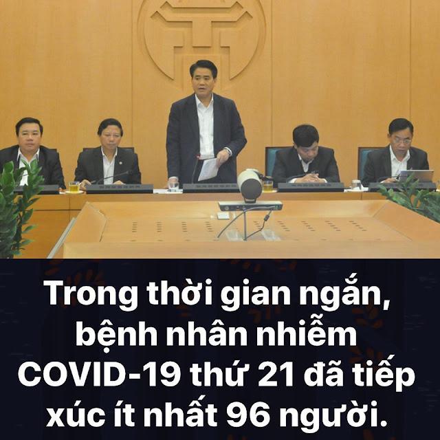Bệnh nhân số 21 -  Nguyễn Quang Thuấn tiến sĩ kinh tế tiếp xúc với 96 người