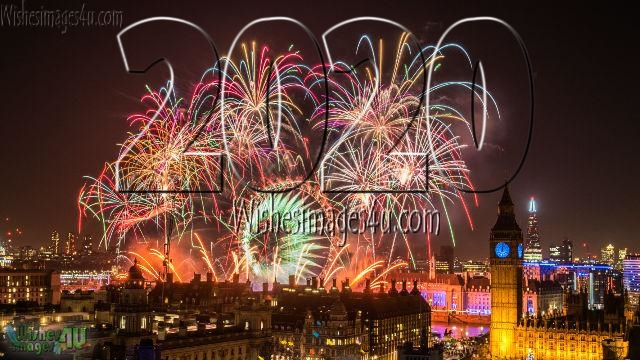 Happy New Year 2020 HD Pics With Firework Download Free - New year 2020 Firework Pics Download Free In HD