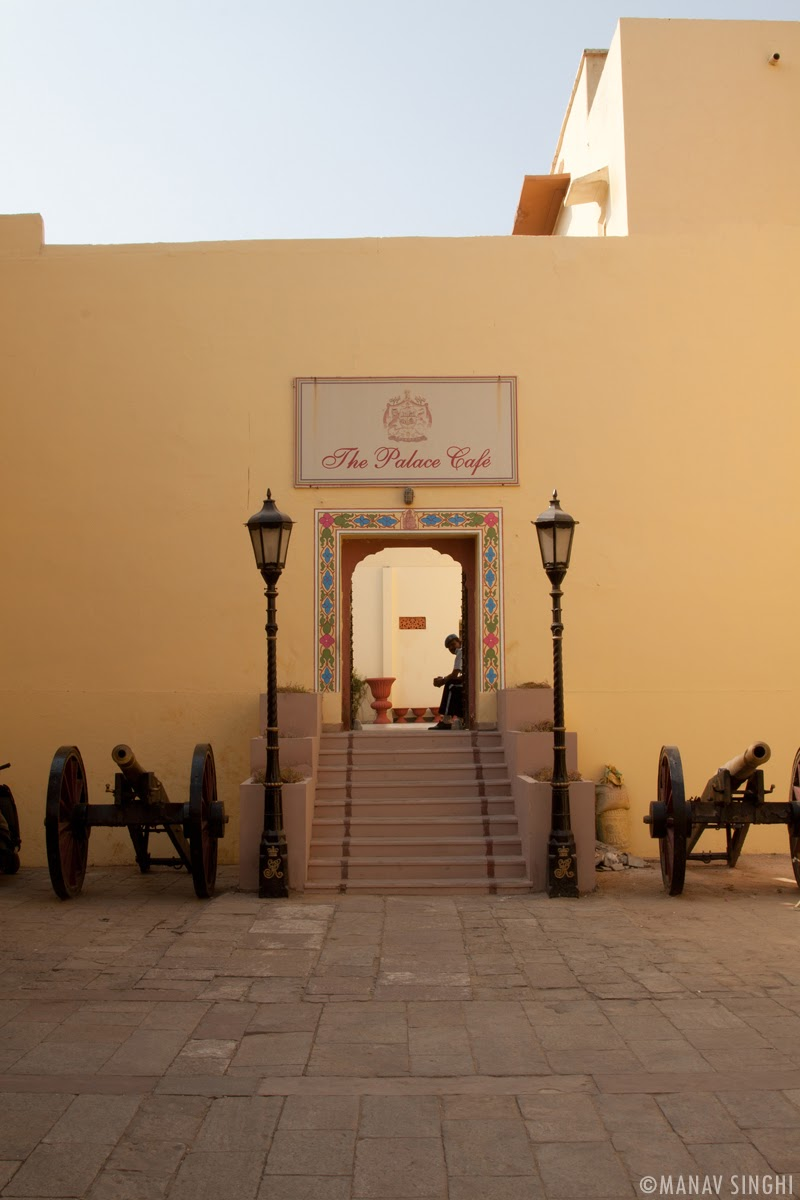 The Palace Café Gate at The City Palace, Jaipur.