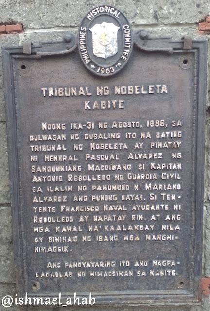 Historical Marker of Casa Tribunal in Noveleta, Cavite