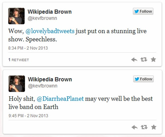 Wikipedia Brown Speaketh The Truth- Diarrhea Planet and The Lovely Bad Things together Again!