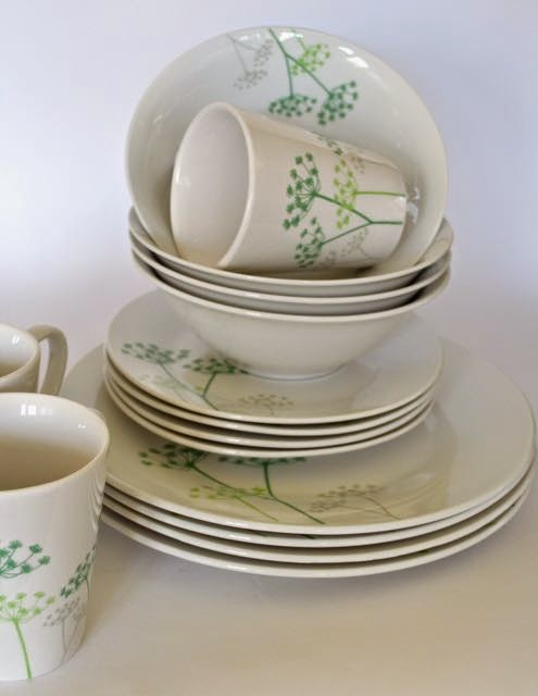Cow Parsley dinner set by Premier Housewares