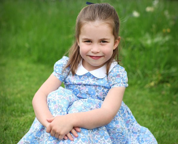 Princess Charlotte wore Trotters Betsy dress from Lily Rose collection, Hampton canvas shoe