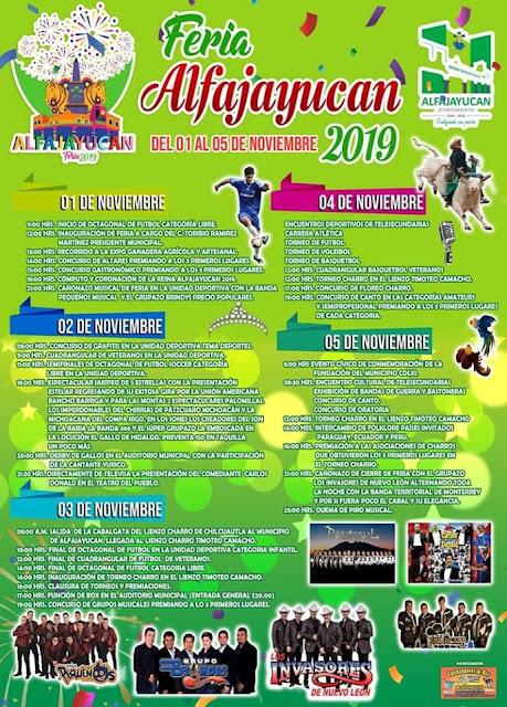 programa feria alfajayucan 2019